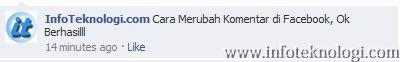 Cara merubah komen di FB