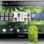 Blackberry Playbook mendukung applikasi Android