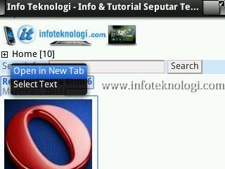 Fitur open link in background tab