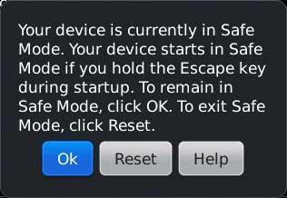 Cara melakukan safe mode di blackberry