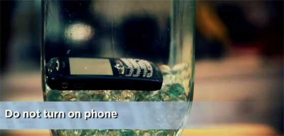 Jangan hidupkan handphone