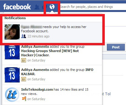 akun FB dihack