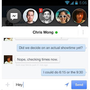 Facebook Messenger for Android menyertakan fitur Chat Heads