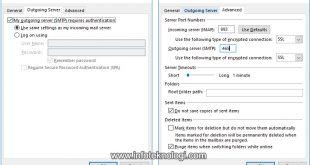 Outlook Internet E-mail settings